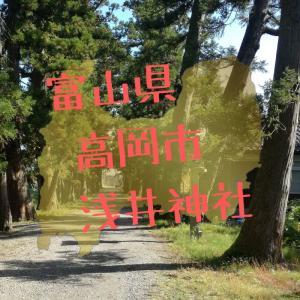 【富山】高岡市福岡町赤丸・浅井神社の杉並木