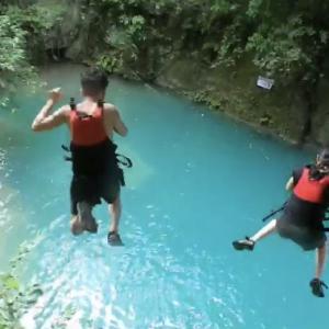 【フィリピン:カワサン滝】最高17mの高さからダイブ?!