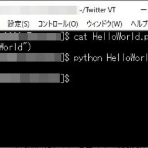 エックスサーバーでPythonを使用してみる