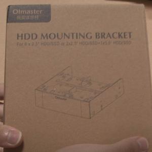 Olmaster 5.25インチベイ用マウントブラケットを買ってみた(´・ω・`)