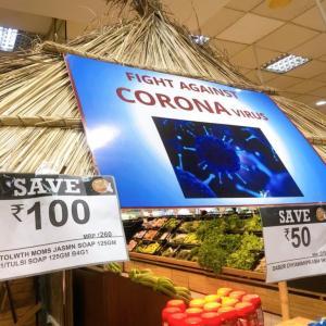【動画あり】インド・21日間のロックダウン開始!一変したインドの街…スーパーの様子は?