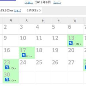 【ジョギング】9月の反省&10月目標