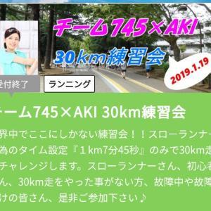 イベントの力を借りて30km走。