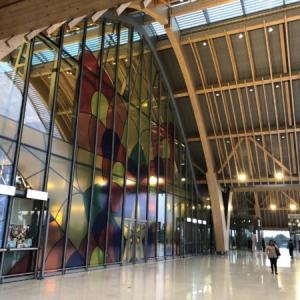 マクタン空港・新ターミナルと喫煙所