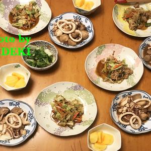 夕飯ですよ 里芋とイカの煮物