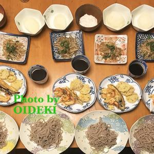 夕飯ですよ お蕎麦と天ぷら