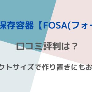 真空保存容器【FOSA(フォーサ) 】の口コミ評判は?コンパクトサイズで作り置きにもおすすめ♪