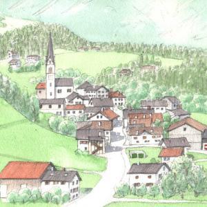 スイス レーティシュ鉄道 「集落」