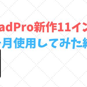 大学生がiPadPro新作11インチ1ヶ月間使用してみた感想