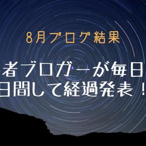 [8月ブログ結果]初心者ブロガーが毎日投稿27日した経過発表!!