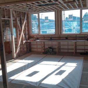 建築中の現場で室内の温度変化を測ってみました
