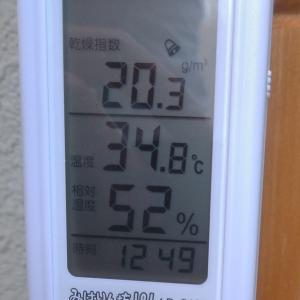 北陸地方の夏はやっぱり湿度が高いですね。