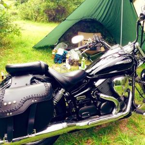 バイク初心者がドラッグスターに乗って初のキャンプツーリング!控えめに言って最高だった