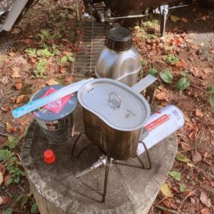 ソロキャンプ向け!?富山市八尾の白木峰山麓の杉ヶ平キャンプ場でラーメンを食す!