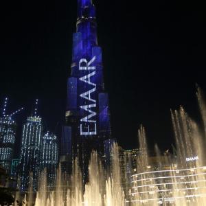 アラブ首長国連邦2日目ドバイ:世界最大級の噴水ショー「ドバイ・ファウンテン」