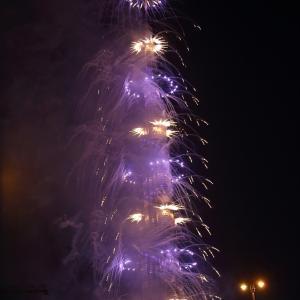 アラブ首長国連邦3日目ドバイ:ブルジュ・ハリファのカウントダウン花火。。