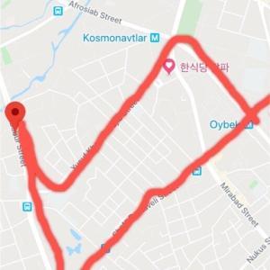 Shota Rustaveli StreetとBabur StreetとYusuf Khos Khodjib Street