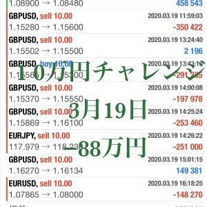 10万円チャレンジ 3月19日 -88万
