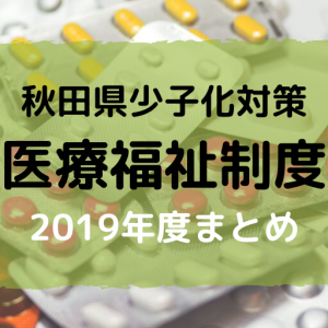 秋田県の少子化対策(2019年度) 医療費について