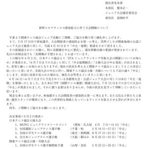 関東テニス協会の発表
