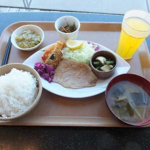 天空のレストランで日替わり定食(太田市役所12階)