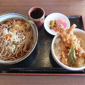 1番人気の海老天丼セット(そば忠 50号店)