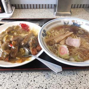 中華料理万仁のカツカレー&ラーメン(桐生市)