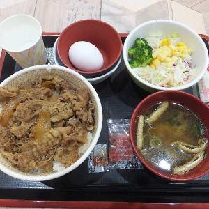 すき家の牛丼ランチセット(イオン太田店)