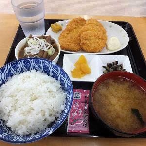 ロースかつ定食+ミニもつ煮(もつ煮ショップ)