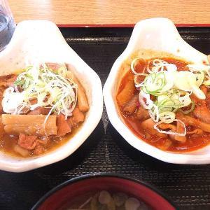 パンチ&赤パンチの食べ比べ定食(山田うどん食堂)