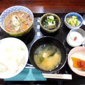 祝開店キッチン渡良瀬!もつ煮定食(太田市吉沢町)