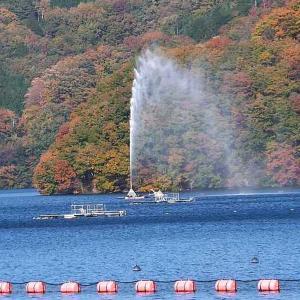草木ダムの紅葉とミニバーべキュー(みどり市東町)