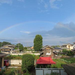 虹が出たから撮りました🌈📸📸