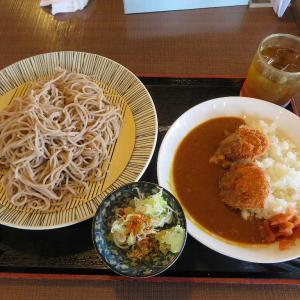 蕎麦とかつカレーセット(桐生市そば忠 50号店)