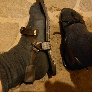 靴下履いてルナサンダル、と6月の月間走行距離