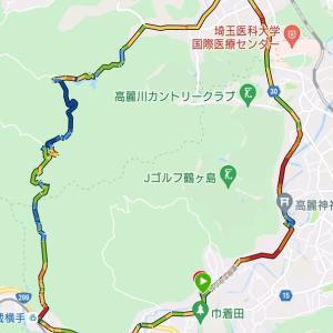 奥武蔵グリーンラインを一部含む峠走。高麗、鎌北湖周回。