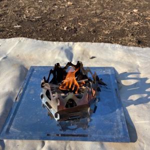 SOTOのミニ焚火台&サイクリングデイキャンプ