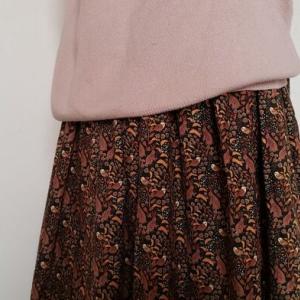 《うさフェス》冬のうさぎ柄スカート