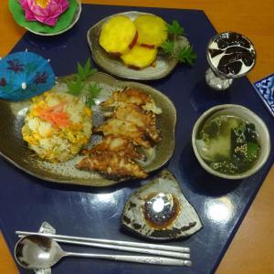 餃子、チャーハンの晩ごはん!