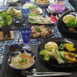 9月のレッスン 中華の点心、お惣菜料理♪