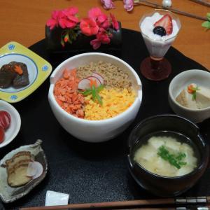 三色丼 晩ごはん!