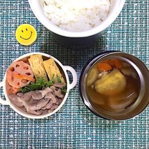 かぼちゃの豚汁弁当【食欲の秋】