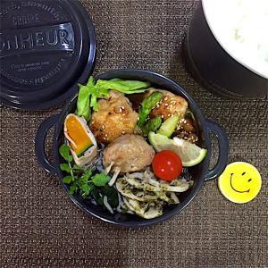 鶏肉とアスパラのマヨポン炒め弁当【食欲の秋】