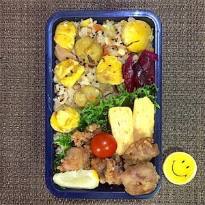 栗と山菜の炊き込みご飯弁当【秋の味覚】