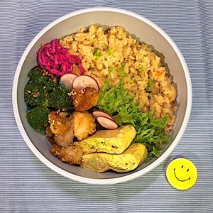 タッパー丸弁で洗いものもラクします。九州かしわめし弁当!
