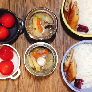 母子家庭の父の日。からの月曜はスープジャーで中華丼弁当
