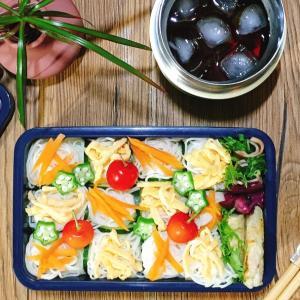 【詰め方説明つき】七夕のお弁当は簡単なそうめんで~