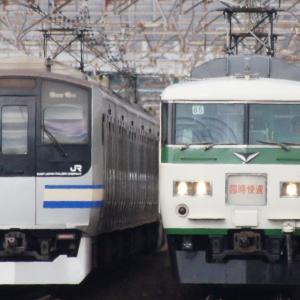 185系成田臨とE217系総武線快速