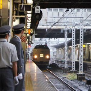 183系L特急「とき」新潟車、8番線へ
