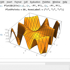 Plot3D ー 3次元のグラフを書く。